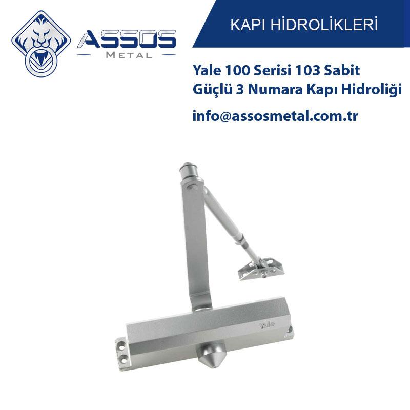 Yale 100 Serisi 103 Sabit Güçlü 3 Numara Kapı Hidroliği